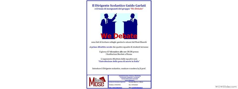 Primo dibattito pubblico