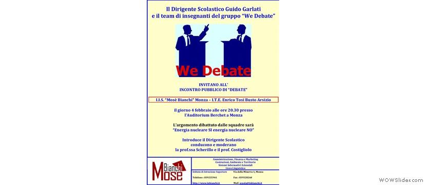 Debate ITE Tosi - IIS M. Bianchi
