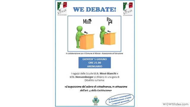 Debate all'Arengario