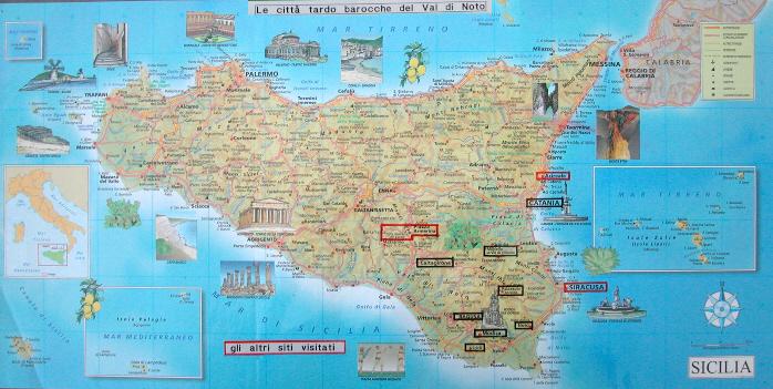 Cartina Noto Sicilia.Cartina Della Sicilia
